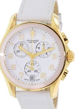 Victorinox by Swiss Army Swiss Army Womens 241511 White Leather Swiss Quartz Watch