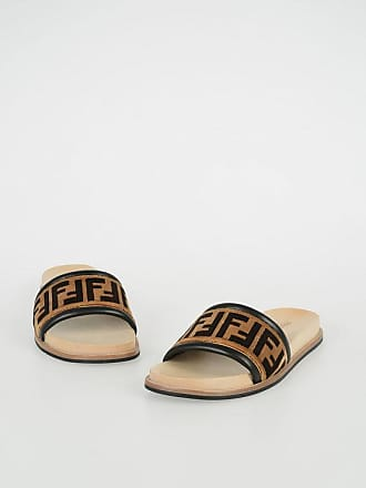 Fendi Fabric and Leather Sandal size 7
