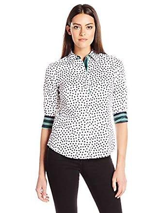 Foxcroft Womens 3/4 Sleeve Ava Dot Shirt, Tennis, 2