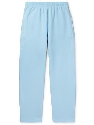 Jacquemus Massilia Canvas-trimmed Loopback Cotton-jersey Sweatpants - Blue