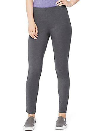 Hanes Womens Stretch Jersey Leggings Charcoal Heather 2XL