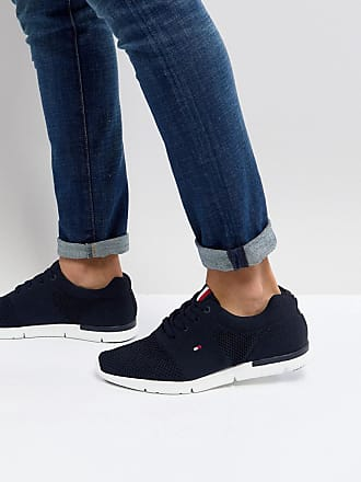 067eed1f9 Tommy Hilfiger Tobias Flag Mesh Trainers in Navy