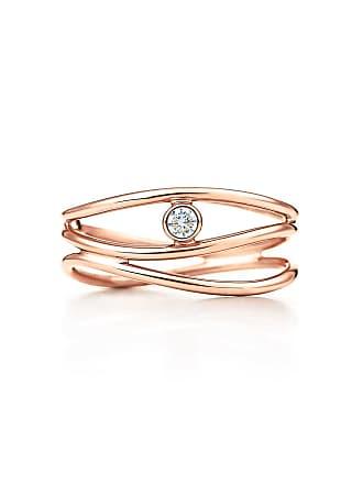 3b3460945 Tiffany & Co. Elsa Peretti Wave three-row diamond ring in 18k rose gold