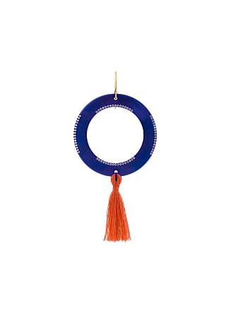 Eye M By Ileana Makri hollow disc tassel earring - Rosa