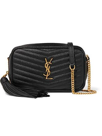 bf89f700e66 Saint Laurent Lou Mini Quilted Textured-leather Shoulder Bag - Black