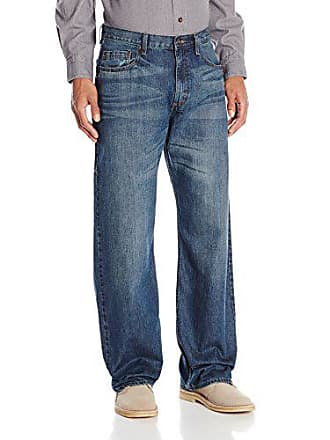Wrangler Authentics Mens Authentics Premium Loose Fit Straight Leg Jean, Medium Indigo, 30x30
