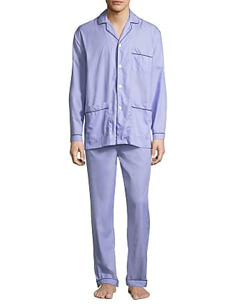 4d85ca3a59 Neiman Marcus Mens Two-Piece Contrast-Piped Pajama Set