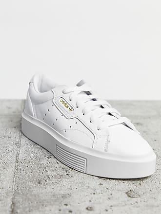adidas Originals Super Sleek sneakers in white