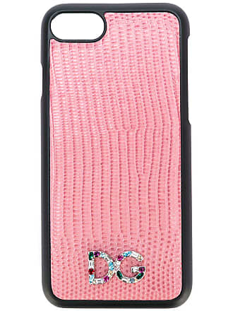 Dolce & Gabbana Capa para iPhone 7 com logo - Rosa