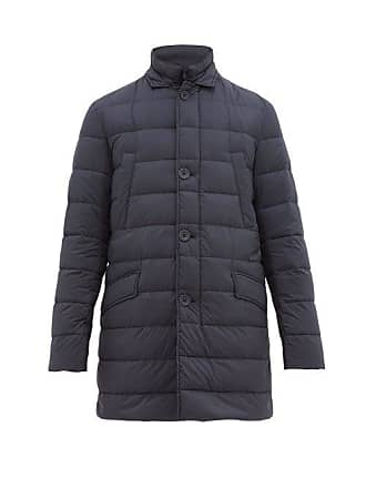 Herno Il Cappotto Quilted Down Coat - Mens - Blue