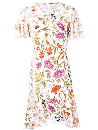 Peter Pilotto floral print midi dress - Branco