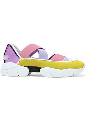 Emilio Pucci Emilio Pucci Woman Color-block Mirrored-leather And Suede Slip-on Sneakers Multicolor Size 35