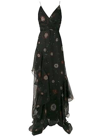 Isolda Vestido longo Amabile de seda - Preto