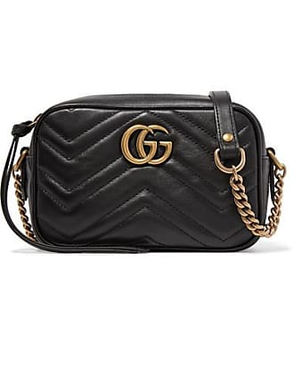 036455ae25 Gucci Gg Marmont Camera Mini Quilted Leather Shoulder Bag - Black