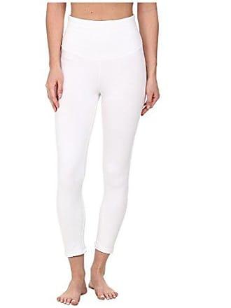 Yummie Tummie Womens Gloria Skimmer Cotton Stretch Shapewear Legging, White, Medium