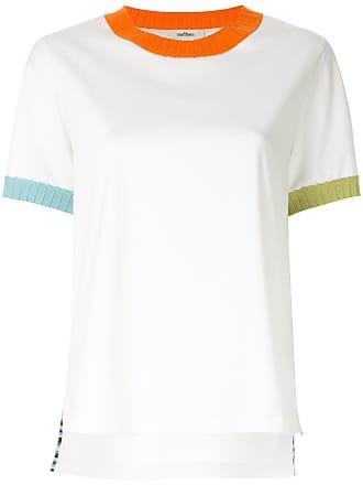Onefifteen Blusa com acabamento contrastante - Branco