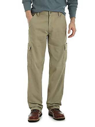 Wrangler Mens Big-Tall Authentics Classic Cargo Pant, British Khaki Twill, 44W x 30L