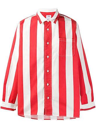 Visvim Camisa listrada - Vermelho