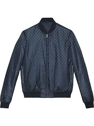 7ed83b5fe Gucci Reversible GG Jacquard Nylon Bomber Jacket - Blue