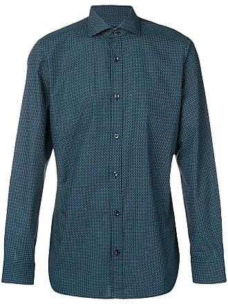 Ermenegildo Zegna micro-pattern shirt - Blue