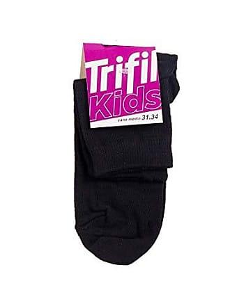 Trifil Meia Trifil Kids Cano Médio Preto 31-34