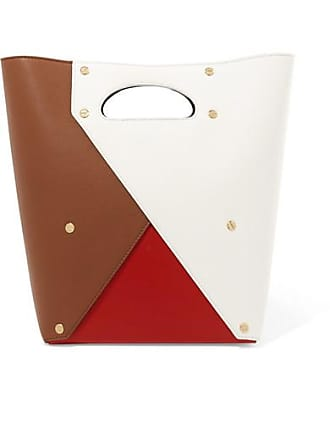 Yuzefi Pablo Color-block Textured-leather Tote - Tan