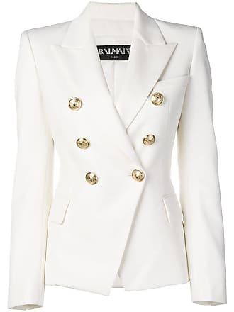 Balmain double-breasted blazer - White