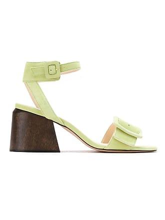 Framed Sandália salto madeira - Verde