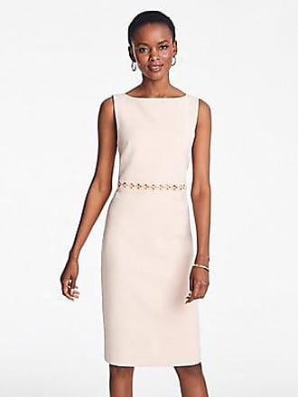 ANN TAYLOR Petite Embroidered Doubleweave Sheath Dress
