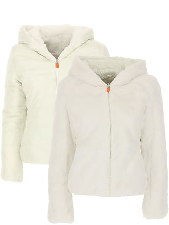 Save The Duck Jacket for Women On Sale, White, polyester, 2017, 4 6