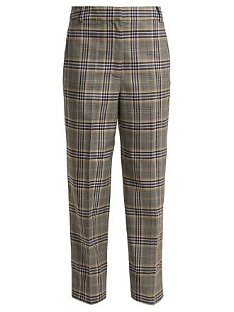 Tibi Lucas Checked Woven Trousers - Womens - Grey Multi