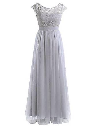 844f4fb8afcf09 TiaoBug Elegant Damen Spitze Kleid Festliches Cocktailkleid Abendkleid  Ärmellos Hochzeit Partykleid Langes Cocktailkleid Gr.34