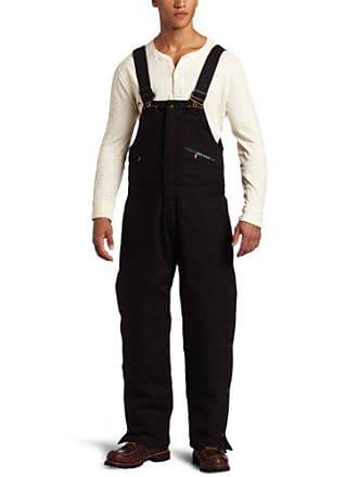 Key Apparel Mens Big-Tall Insulated Waist Zip Duck Bib Overall, Black, 3X-Large-Tall