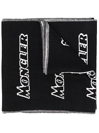 Moncler logo print scarf - Preto