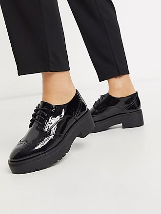 Pimkie patent lace up shoes in black