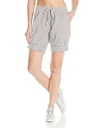 Calvin Klein Performance Womens Rib Waistband Convertible Cargo Bermuda Short 8-12 Inseam, Pale Grey, XL