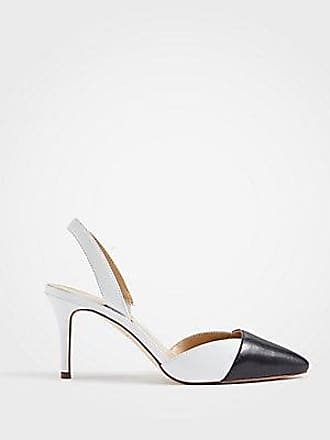 8f0ff455152 ANN TAYLOR Lanie Colorblock Leather Slingback Pumps. In high demand
