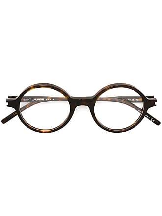 Saint Laurent Eyewear Óculos com armação redonda - Marrom