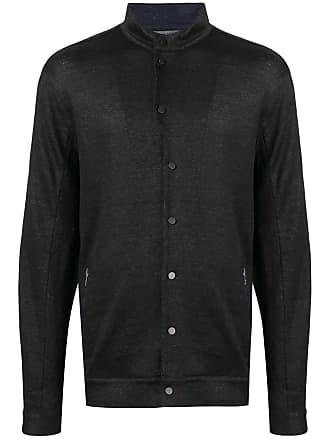 John Varvatos button-up bomber jacket - Black