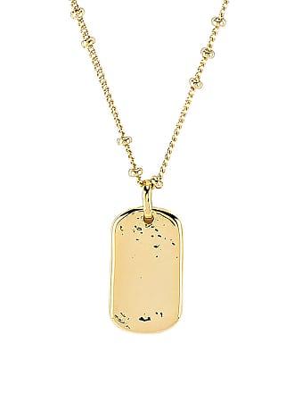 Gorjana Griffin Dog Tag Necklace in Metallic Gold