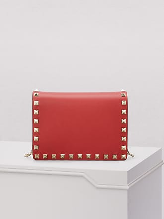 58fafeae714 Valentino Valentino Gavarani studded clutch with chain