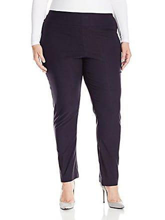 Nic+Zoe Womens Plus Size Wonderstretch Pant, Midnight, 20W
