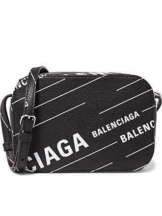 Balenciaga Everyday Xs Aj Printed Textured-leather Camera Bag - Black