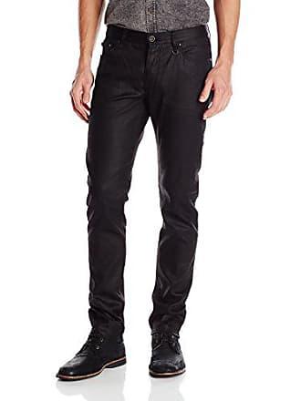 John Varvatos Collection Mens Skinny Fit Jeans with JV Logo, Black, 29 Regular