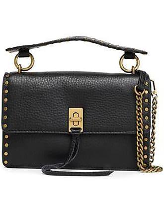 Rebecca Minkoff Rebecca Minkoff Woman Studded Textured-leather Shoulder Bag Black Size