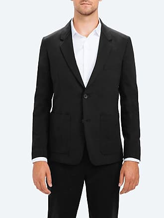Ministry of Supply Mens Black Stretchy Wrinkle Free and Water Repellent Kinetic Blazer XXL