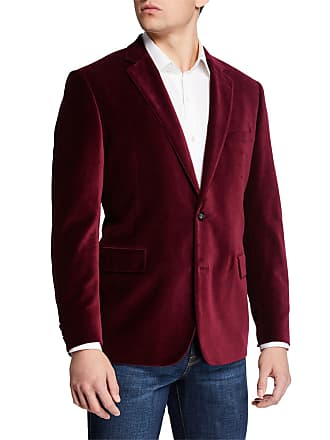 Neiman Marcus Mens Velvet Two-Button Blazer