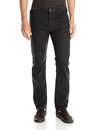 Southpole Mens Flex Stretch Basic Twill and Rinse Denim Pants, Black, 38x34