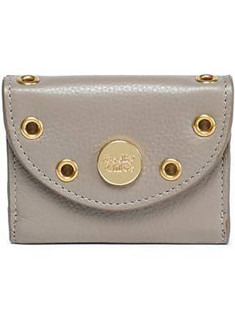 See By Chloé See By Chloé Woman Embellished Textured-leather Coin Purse Mushroom Size