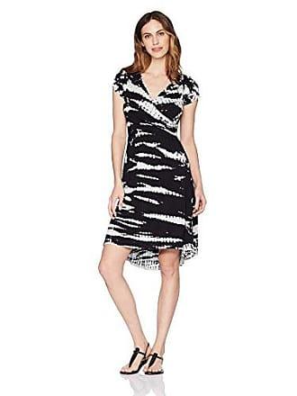 3e8aebfe5903f PL Movement by Pink Lotus Womens Vanilla Island Tie Dye Wrap Dress, Black,  Small